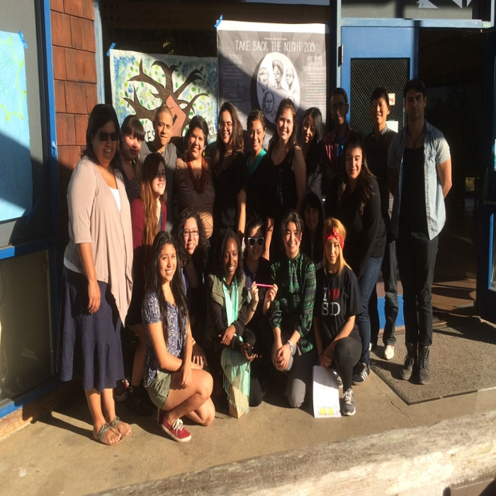 Take Back The Night 2014-15 with volunteers, interns, and staff