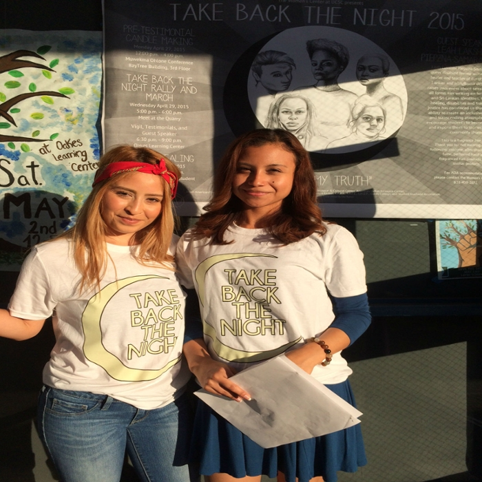 Take Back The Night 2014-15 with interns Yazmin and Leslie