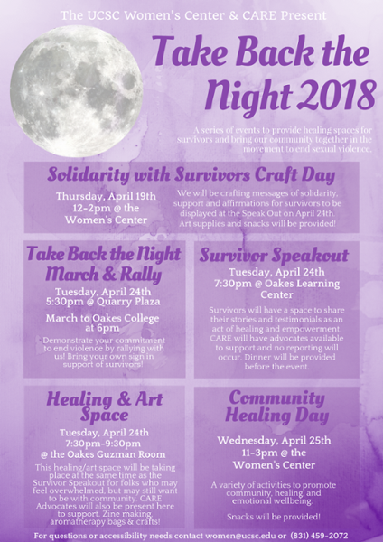 Take Back the Night Flyer 2018